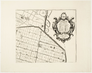 33_KA00452 Topografische kaart van de Zijpe- en Hazepolder in 6 + 2 bladen. Blad 6: noordwesten. Titelcartouche ...