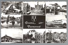 WAT001012393 Warenmarkt       Stadhuis         Beemsterbrug WesterstraatGracht met muziektent      ...