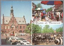 WAT001012402 Raadhuis op de Kaasmarkt         Bloemenmarkt                     Veemarkt op ...