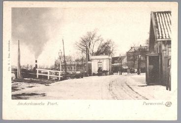 WAT001012428 Amsterdamsche Poort, met links een stoomschip