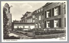 WAT001012524 St. Liduina ziekenhuis, met binnentuinHet gebouw aan de Emmakade is in 1912 gebouwd onder architectuur van ...
