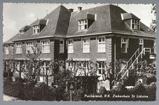 WAT001012527 St. Liduina Stichting. Het gebouw aan de Emmakade is in 1912 gebouwd onder architectuur van de in ...