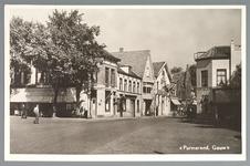 WAT001012542 Het Gouw met links restaurant de Amsterdamse Poort en rechts Restaurant Bellevue van de dames Droog
