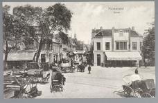 WAT001012549 Het Gouw met links restaurant de Amsterdamse Poort en rechts Restaurant Bellevue van de dames Droog