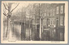 WAT001012596 Als gevolg van een zware noordwester storm brak in januari 1916 de Waterlandse Zeedijk tussen Monnickendam ...