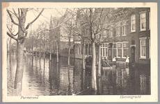 WAT001012603 Als gevolg van een zware noordwester storm brak in januari 1916 de Waterlandse Zeedijk tussen Monnickendam ...