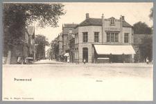 WAT001012552 Het Gouw met links restaurant de Amsterdamse Poort en rechts Restaurant Bellevue van de dames Droog, ...