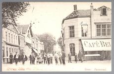 WAT001012554 Het Gouw met links restaurant de Amsterdamse Poort daarnaast een stalhouderij, vervolgens hotel het ...