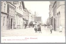 WAT001012556 Het Gouw met links een stalhouderij, vervolgens hotel het Heerenlogement en helemaal rechts Restaurant ...