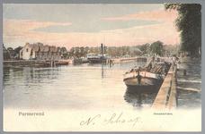 WAT001012712 Links de sluis en rechts de tramlijn van Purmerend naar Alkmaar