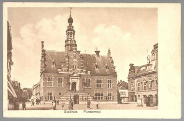 WAT001012713 Stadhuis van Purmerend, gebouwd in neo-renaissancistisch in de jaren 1911-1912 naar ontwerp van architect ...