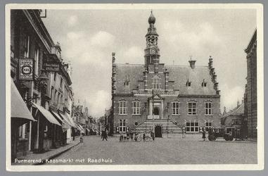 WAT001012714 Stadhuis van Purmerend, gebouwd in neo-renaissancistisch in de jaren 1911-1912 naar ontwerp van architect ...