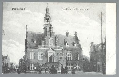 WAT001012718 Stadhuis van Purmerend, gebouwd in neo-renaissancistisch in de jaren 1911-1912 naar ontwerp van architect ...