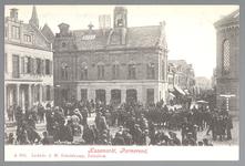 WAT001012722 Kaasmarkt te Purmerend, op een gegeven moment de twee na grootste van Nederland. Links het oude Stadhuis ...