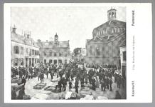 WAT001012729 Kaasmarkt te Purmerend, op een gegeven moment de twee na grootste van Nederland. Links het oude Stadhuis ...
