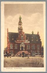 WAT001012735 Stadhuis van Purmerend, gebouwd in neo-renaissancistisch in de jaren 1911-1912 naar ontwerp van architect ...