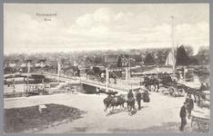 WAT001012676 Marktdag. Boeren transporteren hun koeien over de sluis. De sluis werd in 1819 voor fl.395.000 aanbesteed ...