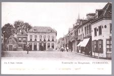 WAT001012737 Kaasmarkt, tweede pand van links, waar ze loten verkochten voor de staatsloterij. Daarnaast Hotel Centraal ...