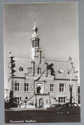 WAT001012750 Stadhuis van Purmerend, gebouwd in neo-renaissancistisch in de jaren 1911-1912 naar ontwerp van architect ...