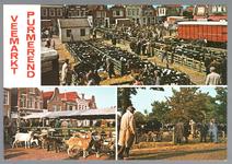 WAT001012833 Koe,kalveren en geitenmarkt. Op de kop van de koemarkt verhandelde men al sinds 1612 koeien, ossen, ...