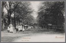 WAT001012899 Paardenmarkt aan de nieuwstraat. Paarden werden vele jaren tot 1920 verhandeld aan het zogeheten Kerkhofpadje.