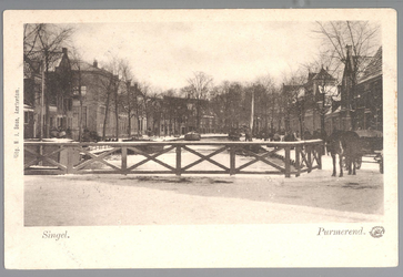 WAT001013001 Vanaf de Westerstraat gezien. Het vooruitstekend gebouw (links)is de Fransche School, later school met den ...