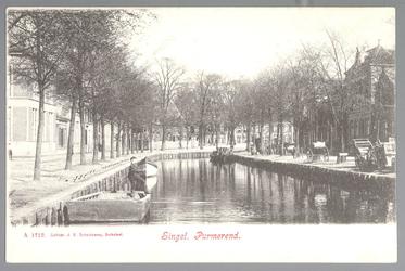 WAT001013004 Het water van de Singelgracht stroomde uit in de Where. Het stroomde onder de Kleine Beemsterbrug door die ...