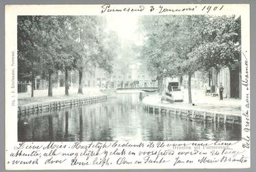 WAT001013005 Het water van de Singelgracht stroomde uit in de Where. Het stroomde onder de Kleine Beemsterbrug door die ...