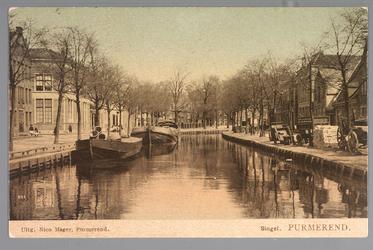 WAT001013007 Het water van de Singelgracht stroomde uit in de Where. Het stroomde onder de Kleine Beemsterbrug door die ...