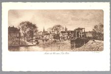 WAT001013069 Rechts de Beemsterbrug en links de Bierstekerbrug en op de hoek de Bierkade. Tekst achterkant kaart; ...