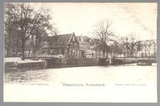 WAT001013071 Wagenbeurs met rechts de Bierstekersbrug en daarachter de Beemsterbrug . En links de zgn. Kleine ...