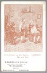 WAT001013117 Uit het leven van den Barbier, leerling: Zijn eerste klant.Aangeboden door den bediende van W.Roelofs, ...