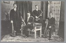 WAT001013168 Saxophone Quartet, van links naar rechts: staand Peter Grandadam tenor sax, zittend H.R.W. Thie sopraan ...