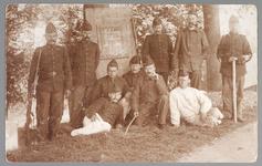 WAT001013197 Mobilisatie 1914 - 1918.Groepsportret van een aantal soldaten.