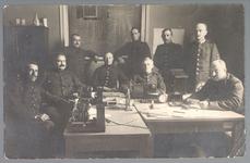 WAT001013200 Mobilisatie 1914 - 1918.Groepsportret van een aantal marconisten.