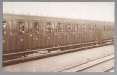 WAT001013201 Mobilisatie 1914 - 1918.Soldaten die aankomen per trein in Purmerend.