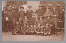 WAT001013203 Mobilisatie 1914 - 1918.Groepsportret van een aantal padvinders.