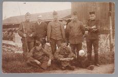 WAT001013204 Mobilisatie 1914 - 1918.Groepsportret van een aantal soldaten.