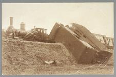 WAT001013222 Op 5 september 1905 was er een botsing tussen een personentrein en een goederentrein, op het emplacement ...