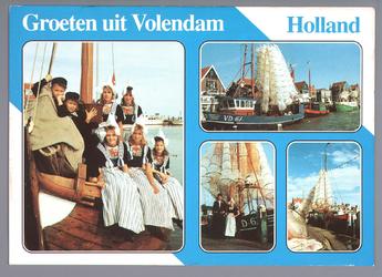 WAT001013302 Ansichtkaart met foto's van de Volendamse haven.