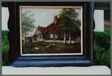 WAT001000184 Foto van het schilderij schuilkerk 't Hofje.Achtergrondinformatie:In de protestantse droogmakerij Beemster ...