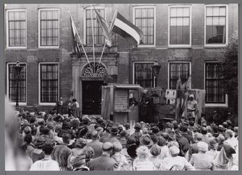 WAT001001068 Stadsfeest Edam.Van 12 tot 21 juli 1957 hielden de Edammers een stadsfeest ter gelegenheid van het 600 ...
