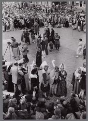 WAT001001079 Stadsfeest Edam.Van 12 tot 21 juli 1957 hielden de Edammers een stadsfeest ter gelegenheid van het 600 ...