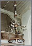 WAT001001627 Foto: interieur van de Nederlands-hervormde kerk van Kwadijk. Zaalkerk met spitsboogvensters en een houten ...