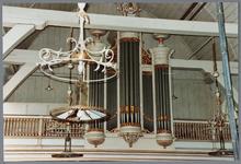 WAT001001631 Foto:orgel van de Nederlands-hervormde kerk van Kwadijk. Zaalkerk met spitsboogvensters en een houten ...