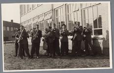 WAT001001898 Foto: ,,Amicitia'' verzorgde de muzikale omlijsting tijdens de opening van de openbare Twiskeschool