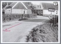 WAT001002043 Aanzicht op het Brink bij de gemeente grens Middelie. Ook wel: Driesprong, links richting Kwadijk rechts ...