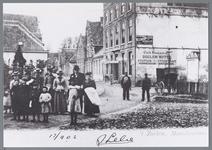 WAT001002303 Aanzicht op de Zarken met rechts op de hoek het Doelen Hotel. Later werd dit de Burgemeesterswoning. Het ...