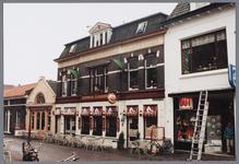 WAT001002763 Oorspronkelijk woonhuis met winkel en werkplaats, thans café. Architect J.V.Lankelma en opdrachtgever ...