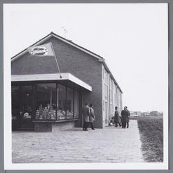 WAT001002851 Supermarkt/kruidenier Kroon aan de Wilhelmina Druckerstraat.